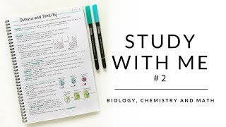 Study with me #2 | Biology notes, chemistry notes and math | studytee