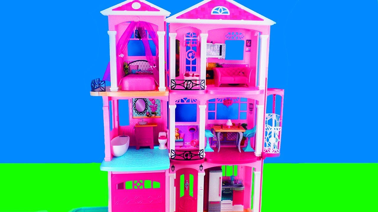 Xxl Puppenhaus Barbie Unboxing Dream House Super Adventure Camper Doll House With Bedroom And Kitchen