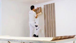 Poser du papier peint sur papier - Encoller les murs