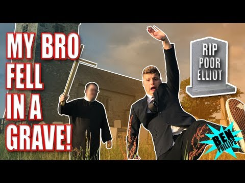 Thumbnail: MY BRO FELL IN A GRAVE **PRANK!**