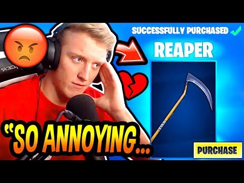 Tfue BUYS & HATES His *RARE* 'REAPER' SCYTHE PICKAXE! (SKULL TROOPER AXE) Fortnite FUNNY Moments