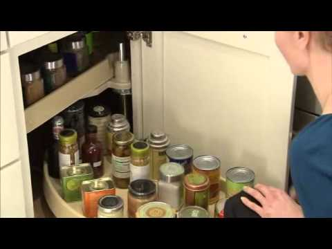 Base Blind Corner Cabinet with Lazy Susan & Base Blind Corner Cabinet with Lazy Susan - YouTube
