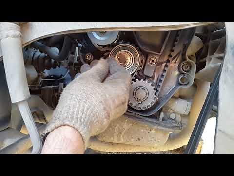 Фото к видео: пропала тяга двигателя, перескочил ремень грм, регулировка зажигания опель вектра а c16nz