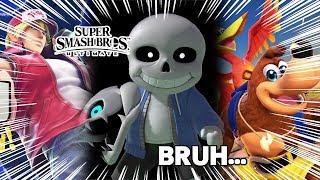 THERE'S MORE DLC!! - Super Smash Bros. Ultimate: Terry Bogard, Banjo, & Sans Reaction Highlights