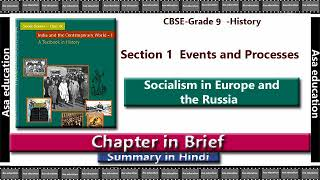 Ch 2 Socialism in Europe and the Russia (History, CBSE, Grade 9) Chapter in Brief/ Summary in Hindi