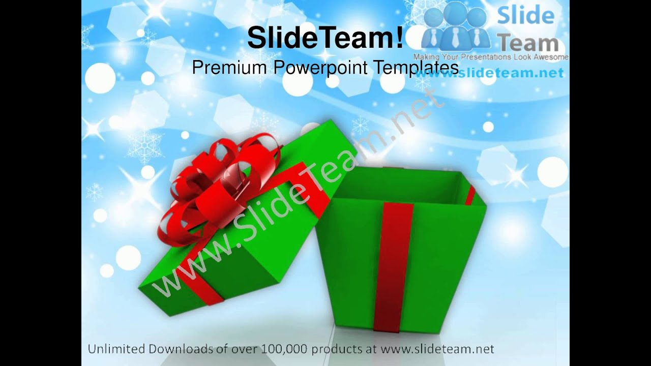 Open gift box with red bow christmas powerpoint templates ppt open gift box with red bow christmas powerpoint templates ppt backgrounds 1112 slides backgrounds youtube negle Image collections