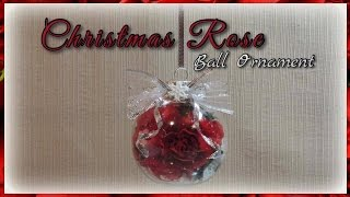Christmas Rose Ball Ornament Youtube