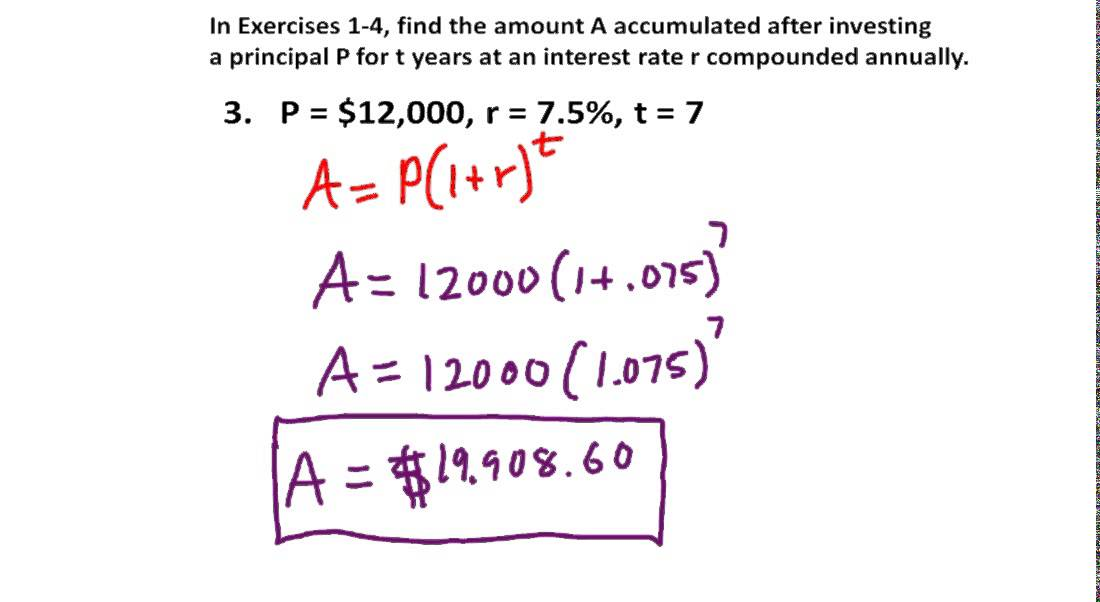 precalculus chapter 3 6 exercises 1 12 calculate principal growth