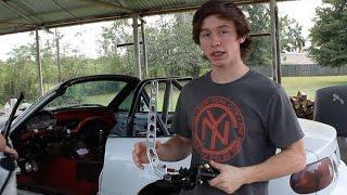 Installing hydro e-brake in the miata!