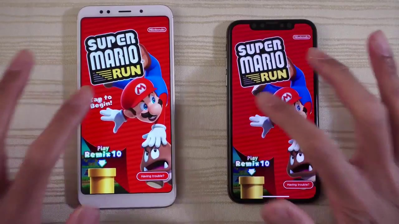 iPhone X vs Xiaomi Redmi 5 Plus Speed Test