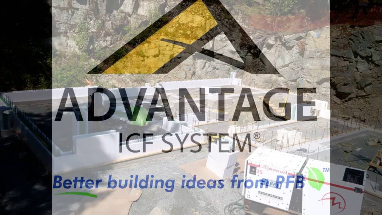 Experience the advantage icf system youtube for Advantage basements
