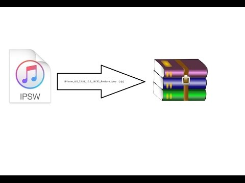 How To Change (Convert) (IOS FIRMWARE IPSW) TO (IOS FIRMWARE ZIP) Easy And  Simple