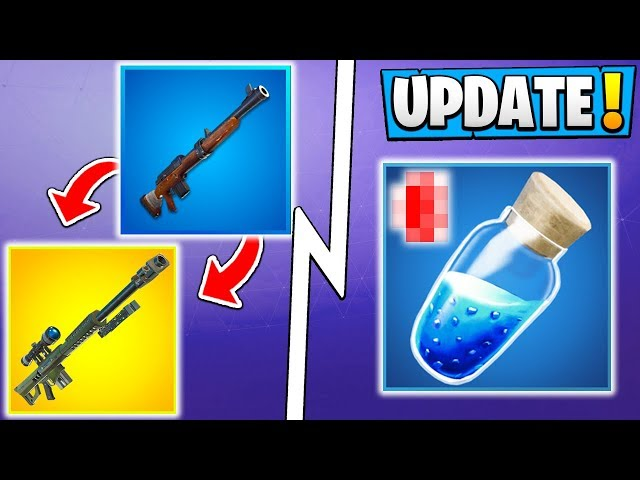 *ALL* Fortnite 7.20 Changes! | Shield Update, New Editing Change, Sniper Rifles!