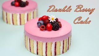 라즈베리 생크림 케이크 만들기  Sweet Raspberry Cream Cake Recipe   ダブルベリークリームケーキ  डबल बर करम कक
