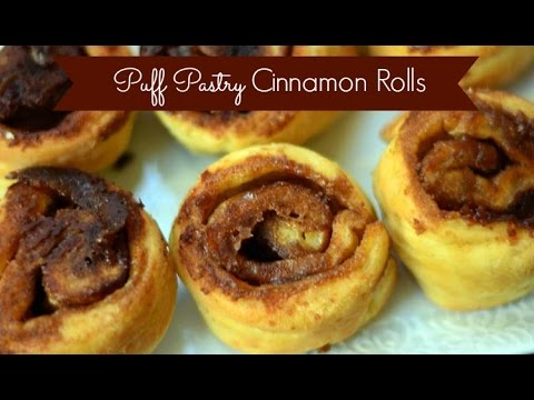 How to make Puff pastry cinnamon rolls !! By cooking tv