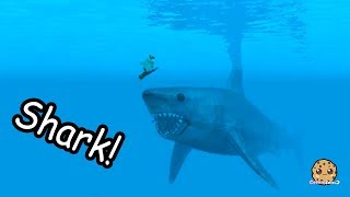 Giant Shark On Boat + Swimming In Water - Roblox Cookie Swirl C Game Video