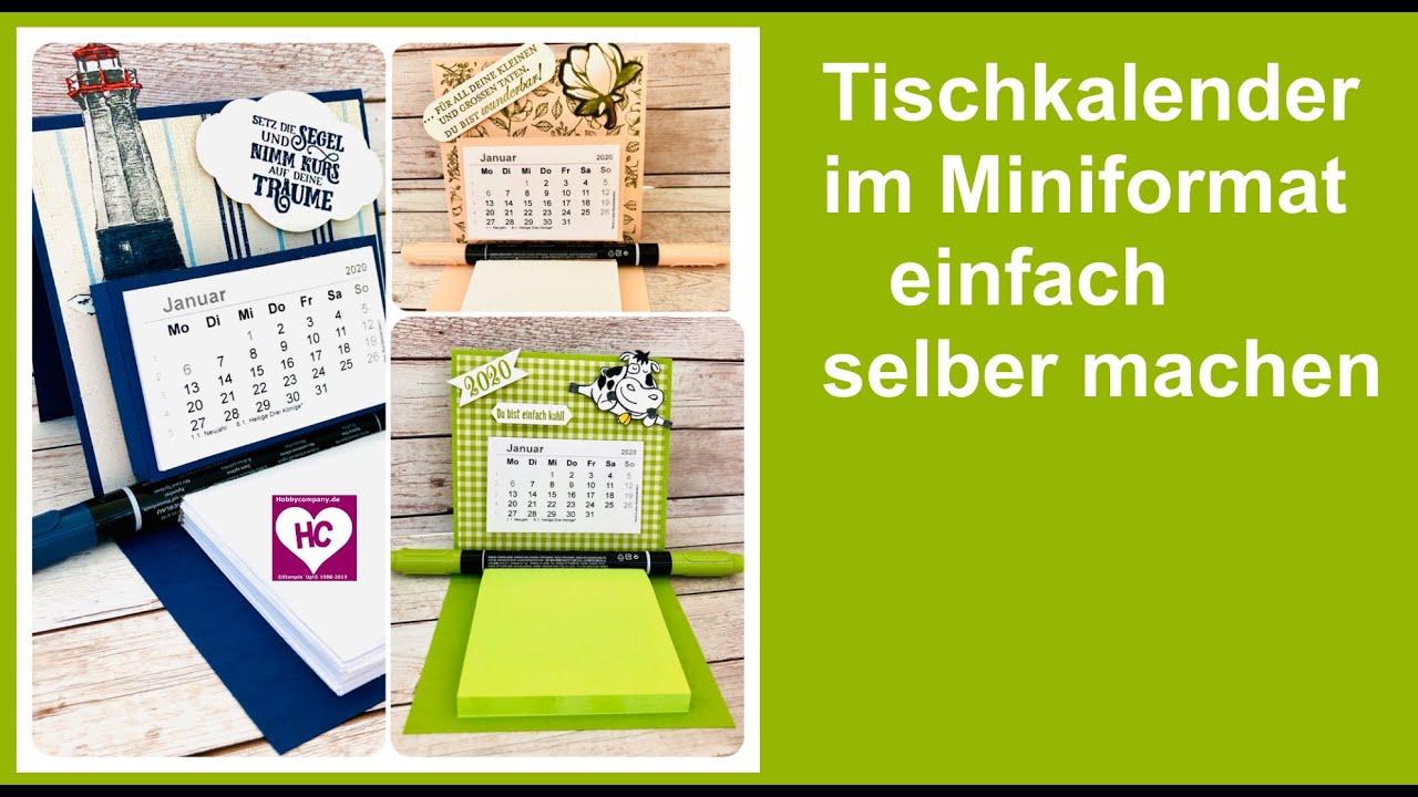 Mini Tischkalender Basteln
