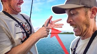 Fishing HOOK in HAND! CATCH and COOK Gone Wrong!!