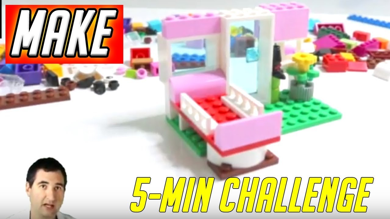 Tow Point Hospital - LEGO 5 Minute Challenge #15 - Classic Creative Bricks  10692 Daily Vlog