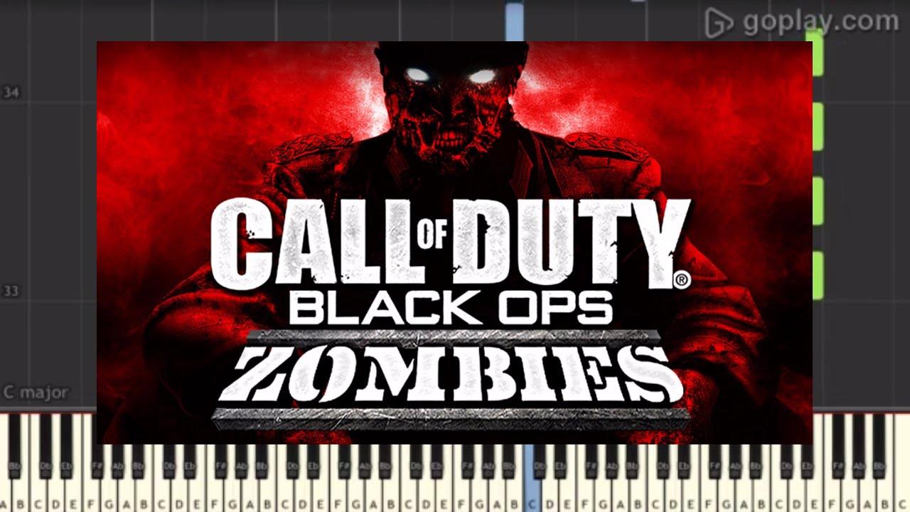 Easy Nazi Zombies Menu Damned Piano Tutorial Synthesia Youtube