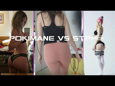 POKIMANE VS STPEACH THICC MOMENTS
