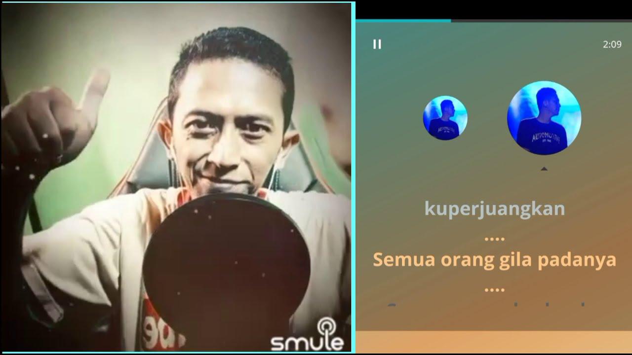 Penasaran - Rhoma Irama | versi rock (video karaoke duet bareng lirik) smule cover by Heri ManVok