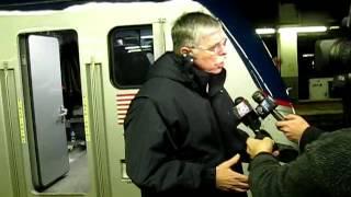 AMTRAK next generation locomotive  debuts on train 171 Boston to Washington