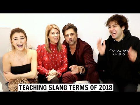 TEACHING PARENTS SLANG TERMS ft. John Stamos & David Dobrik thumbnail