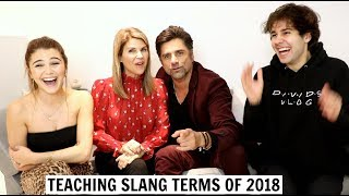 TEACHING PARENTS SLANG TERMS ft. John Stamos & David Dobrik Video