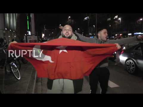 Netherlands: Protests in Rotterdam after Turkish FM barred from entering county