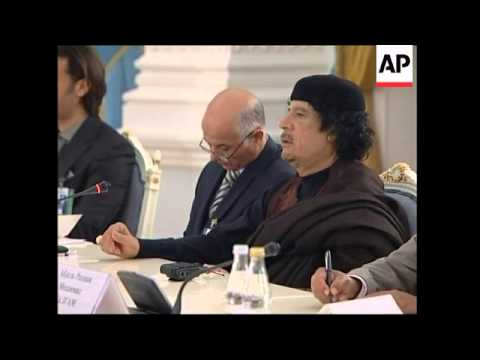 WRAP Gadhafi meets with Medvedev, Gadhafi hosts Putin in Bedouin tent