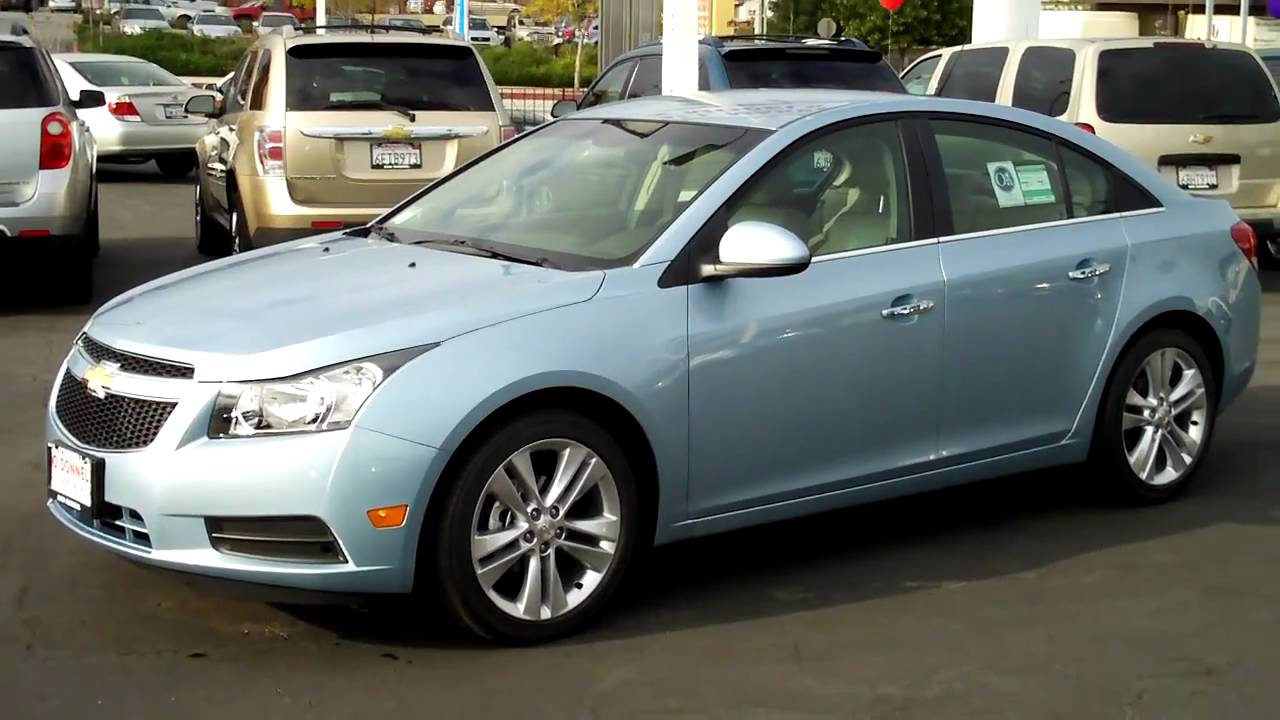 Blue Chevy Cruze Eco 2012 2011