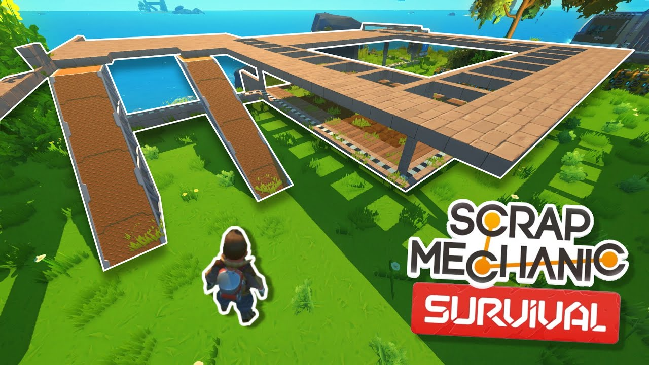 Download Starting the Survival Base and Ideas! - Scrap Mechanic Survival Mode #22