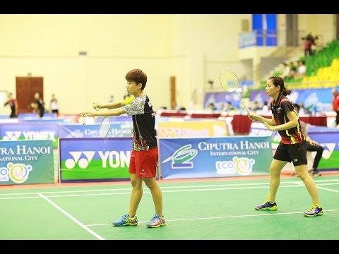 Nguyễn Thùy Linh/Nguyễn Phương Hà vs Ya Han Chang/Yu Wen Kuo - Giải cầu lông Viet Nam Challenge 2016