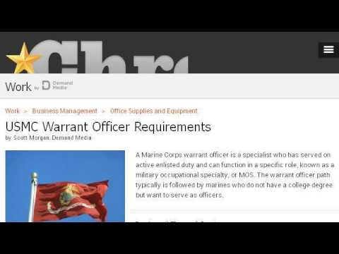 Warrant Officer Packet Requirements