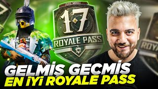 GELMİŞ GEÇMİŞ EN İYİ ROYALE PASS! FULLEDİM! PUBG Mobile Sezon 17 Royale Pass 100 level