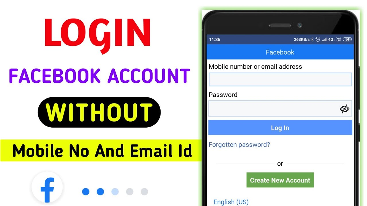LOGIN Facebook Account Without Email Id And Phone Number