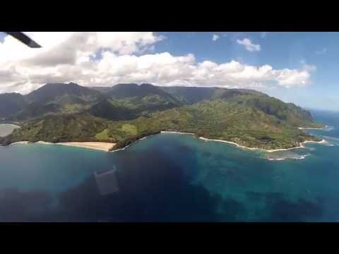 Flying Over Kauai with Island Helicopters