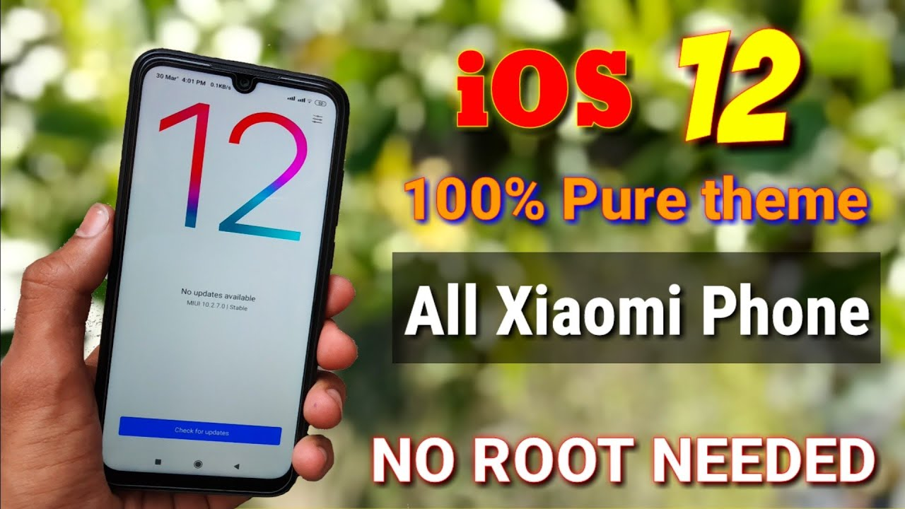 100% iOS 12 best theme for Xiaomi Redmi Smartphones | Redmi note 7 Pro Miui  10 best themes