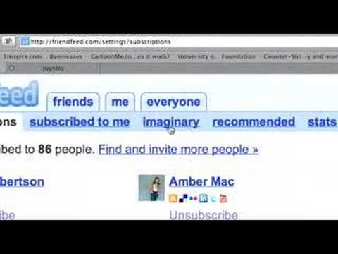 FriendFeed Imaginary Friends