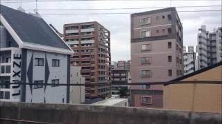 九州新幹線:さくら博多駅の車窓から