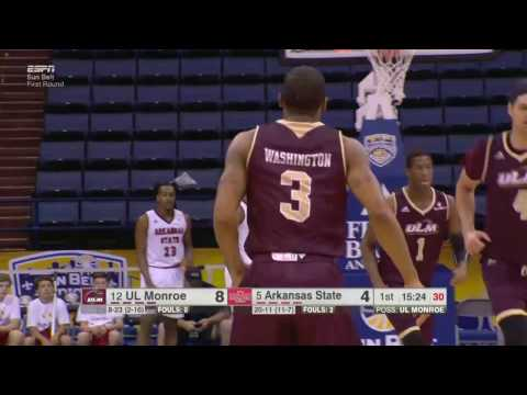 2017 Sun Belt Conference Basketball Championship: Game 2 Highlights ULM vs Arkansas State