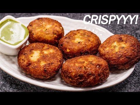 How to make Crispy Aloo Tikki Recipe - CookingShooking