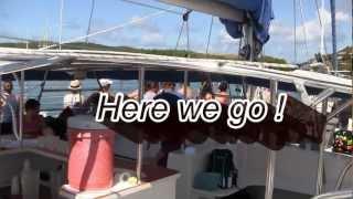 St. Thomas Champagne Catamaran Sailaway Video Review - Carnival Miracle