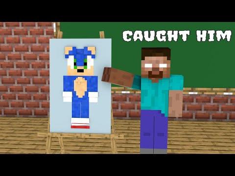 Monster School : Naughty Sonic - Funny Minecraft Animation