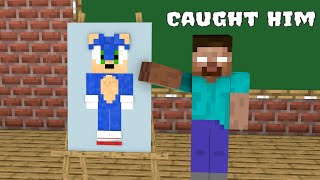 Monster School : Naughty Sonic - Funny Minecraft Animation