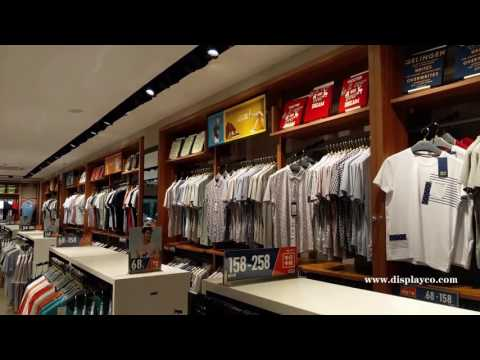 clothes showcase for man,clothes racks, man garment display store fixture,clothing store fixture
