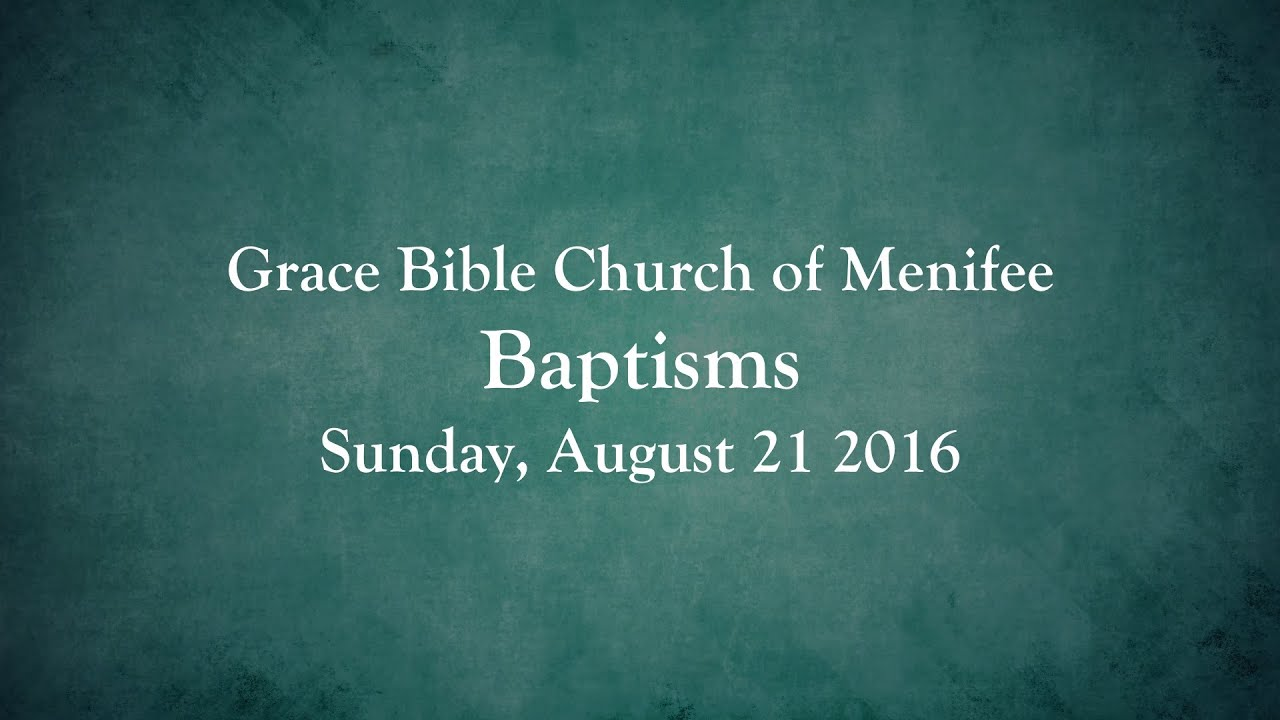Pastor's Welcome: Grace Bible Church of Menifee