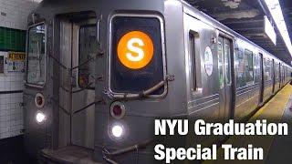 ⁴ᴷ nyu graduation special shuttle train action