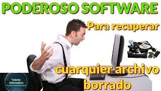 PODEROSO software para recuperar completamente archivos borrados después de formatear   PARTE 2